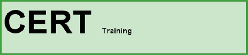 Rounded Rectangle: CERT Training